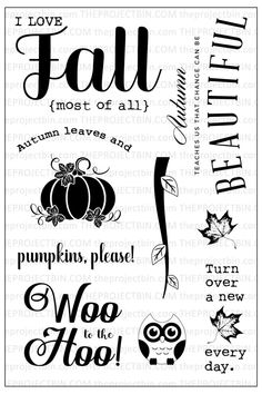 Set of 10 high quality clear stamps to create unique Fall crafts on a 4 x 6 storage sheet! Picture Transfer To Wood, Wood Transfer, Autumn Leaves, Autumn Fall, Hand Stamped Cards, Thanksgiving Cards, Fall Cards, New Leaf, Clear Stamps