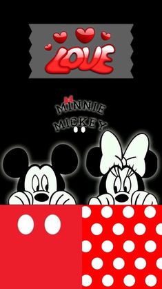 Minnie and Mickey Mouse wallpaper Disney Mickey Mouse, Mickey Mouse E Amigos, Mickey And Minnie Love, Mickey Mouse And Friends, Disney Fun, Dreamcatcher Wallpaper, Love Wallpaper, Pattern Wallpaper, Iphone Wallpaper