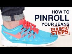 How To Pinroll Jeans: Pinroll Jeans in 8 Steps - YouTube