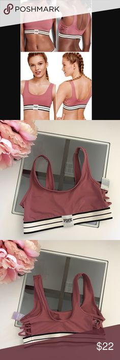 NWT PINK Victoria's Secret ultimate sports bra Med New with tags- quick dry fabric, 4 way stretch. Light support very pretty color & design. SOLD OUT in stores and online PINK Victoria's Secret Intimates & Sleepwear Bras