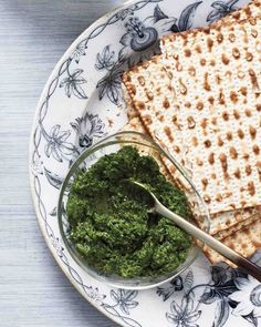 Herb Relish (Schug) and Matzo