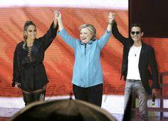 Jennifer López, Hilary Clinton y Marc Anthony - Hillary Clinton, a las puertas de la Casa Blanca