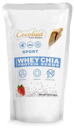 Cocolaid SPORT - Chia Shake - WHEY & CHIA. Complete Meal Shakes Chia Seeds Protein, Soy Protein, Meal Shakes, Weight Loss Shakes, Shake Recipes, Vitamins And Minerals, Chips, Gluten, Snacks
