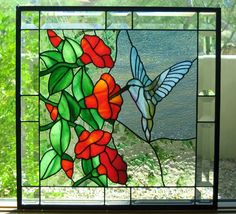 Finished this stained glass panel for a dear friend in Michigan. Taking it with me next month and can't wait to see it hanging in her home...