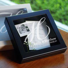 Cute keepsake shadow box for all those small wedding treasures