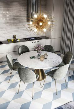30 Perfect Room Decoration Ideas To Inspire You Modern Dining Room Tables, Luxury Dining Room, Dining Room Design, Kitchen Design, Apartment Interior Design, Room Interior, Dinner Room, Room Decor, Mirror Room