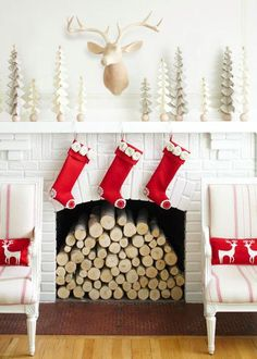 Get tips and ideas for decorating your home for Christmas from this collection of lovely living rooms.