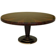 French Art Deco Round Table in Macassar | From a unique collection of antique and modern dining room tables at https://www.1stdibs.com/furniture/tables/dining-room-tables/