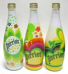 Perrier Limited edition.  How about these colors? 내용물이 투명하기에 도화지와 다름 없다
