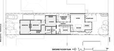 contemporary floor plan Convertible Courtyards House
