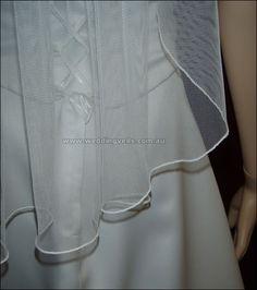 Delilah Waist Length Single Tier Wedding Veil - Wedding Veils Australia