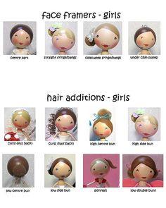girl hair for peg dolls