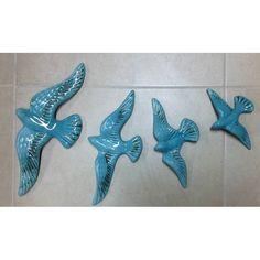 seramik martı kuş seti