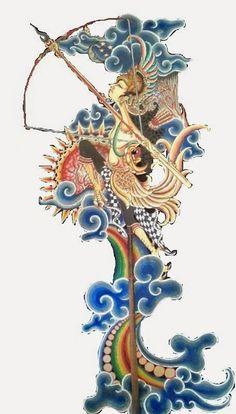 Gambar - Gambar Wayang Unik Dark Art Illustrations, Illustration Art, Traditional Eagle Tattoo, Poster Color Painting, Indonesian Art, Batik Art, Shadow Puppets, Traditional Paintings, Art Pop