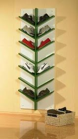 47 Unique Diy Shoe Rack Ideas To Keep Your Shoes. The over door shoe rack is the most spacious solution for efficient shoe storage. These useful racks fit wonderfully at the back of the door making us. Shoe Storage Small, Entryway Shoe Storage, Closet Shoe Storage, Diy Shoe Rack, Diy Storage, Shoe Racks, Shoe Closet, Closet Small, Diy Shoe Organizer