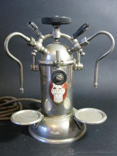 Coffee machine or monster? Antique Eterna Pavia espresso machine.