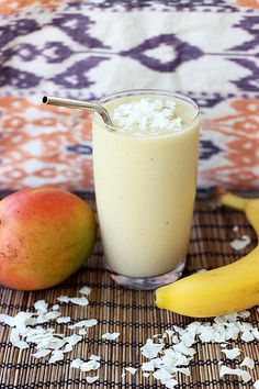 Coconut Mango Banana Smoothie - Gluten-free + Vegan