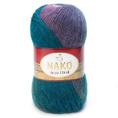 Pack of five /5/ skiens of Nako Arya Ebruli Alpaca blended Yarn. High quality Turkish Yarn. Autumn Winter Spring Collection. Free Shipping
