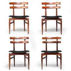 Set of Four Danish Dining Chairs in Rosewood by Poul Hundevad
