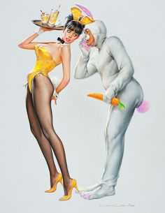♥ by Don Lewis, 1960's Playboy illustrator ♥