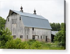 White Barn II Acrylic Print by Bonfire #Photography
