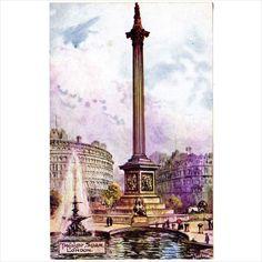Jotter: Trafalgar Square, London postcard by M Ettlinger & Co. on eBid United Kingdom London Postcard, Trafalgar Square, Big Ben, Postcards, United Kingdom, Auction, Artist, England, Greeting Card
