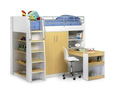 Great kids captain bed concept with push away desk.. Brilliant for small kids rooms