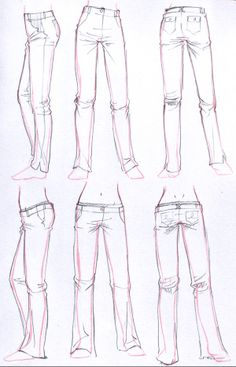 art reference poses, art reference character design, art r. Drawing Poses, Manga Drawing, Drawing Sketches, Art Drawings, Drawing Tips, Sketching, Manga Clothes, Drawing Clothes, Jeans Drawing