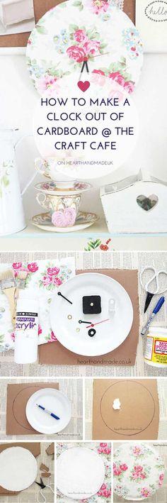 Homemade Shabby Chic Decor Ideas | DIY Cardboard Clock by DIY Ready at http://diyready.com/diy-shabby-chic-decor/