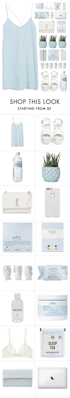 """""""Boo in Blue"""" by vip-beauty ❤ liked on Polyvore featuring MANGO, Opening Ceremony, Chen Chen & Kai Williams, Yves Saint Laurent, Case-Mate, Dogeared, Laura Ashley, Design 55, First Aid Beauty and Lord & Berry"""