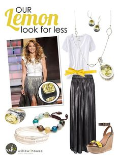 Lemon Quartz ring similar to J Lo's look for much less  Available at www.janellepowell.willowhouse.com