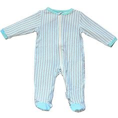 4691d919ed Silkberry Baby Bamboo UnisexBaby Newborn Footie Sleeper Marina 612m    See  this great product.
