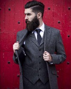 Chris John Millington (Walker Slater *love this man and his beard/hair/style* Mode Masculine, Walker Slater, John Millington, Chris John, Estilo Hipster, Wool Waistcoat, Wool Suit, Tweed Jacket, Dress Shirt And Tie