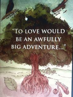 """I love this quote it fits a lord of the rings wedding! Based off the saying from Peter Pan """"To live would be an awfully big adventure."""" Just changed one word to make it more meaningful!"""