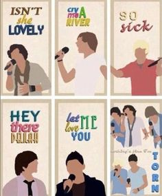 One Direction X Factor songs.