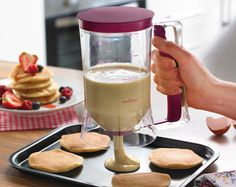 Batter & Mixture Dispenser £10.00 Plastic container with easy dispensing handle. Perfect for cakes, muffins and pancakes. Size L18.8 x W10.8cm.