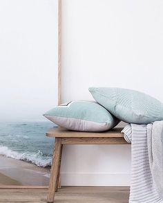 Designed in Australian and made from a cotton weave in a soft muted green, the Greta cushion is the perfect way to add a subtle texture to your interior. Looks beautiful paired with any colour due to .