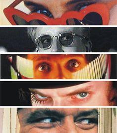 The power of eyes in Kubrick films. Descubra 25 Filmes que Mudaram a História do Cinema no E-Book Gratuito em http://mundodecinema.com/melhores-filmes-cinema/