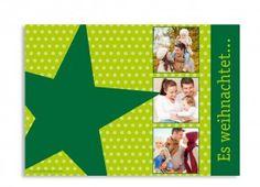 Weihnachtskarte Star - da freut man sich wieder auf die Post