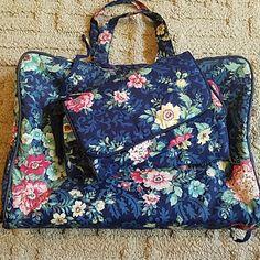Ted Lapidus Paris Blue Floral Travel Set