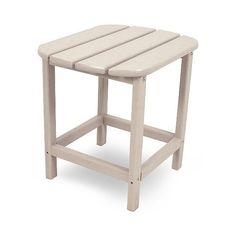 Polywood South Beach Patio Side Table ($100) ❤ liked on Polyvore featuring home, outdoors, patio furniture, outdoor tables, beige, polywood patio furniture, polywood outdoor furniture, outdoor patio side table, outdoor patio table and patio glider chair
