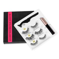 5 Magnet Eyelash Magnetic Liquid Eyeliner& Magnetic False Eyelashes & Tweezer Set Waterproof Long Lasting Eyelash Extension-in False Eyelashes from Beauty & Health on Aliexpress.com | Alibaba Group Eyelash Sets, Magnetic Eyelashes, Beauty Essentials, False Eyelashes, Aliexpress, Eyelash Extensions, Eyeliner, Magnets, Personal Care