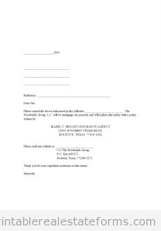 Free Cancellation of Existing Hazard Insurance Printable Real Estate Forms Real Estate Contract, Real Estate Forms, Online Real Estate, Real Estate Templates, Legal Forms, Resignation Letter, Reference Letter, Letter Sample, Letter Templates