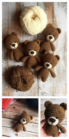 Educational and interesting ideas about amigurumi, crochet tutorials are here. Crochet Teddy Bear Pattern, Crochet Amigurumi Free Patterns, Crochet Animal Patterns, Crochet Dolls, Knitted Toys Patterns, Cute Crochet, Crochet Crafts, Crochet Baby, Crochet Projects