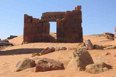 The ruins of ancient structures in Sudan. The civilization extends back over 6,000 years in this region of Africa.