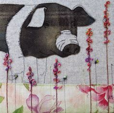 Jo Hill Textiles: Farm animals