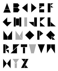 List of links to tangram fonts / typefaces. Compiled by Luc Devroye. Alphabet Design, Hand Lettering Alphabet, Typography Letters, Typo Design, Word Design, Graphic Design Typography, Lettering Design, Logo Boutique, Schrift Design