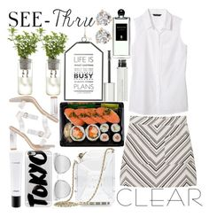 """It's All Clear Now"" by estefanifashion ❤ liked on Polyvore featuring Chanel, MANGO, Banana Republic, Quay, Casetify, MAC Cosmetics, Givenchy, Serge Lutens and Kate Spade"