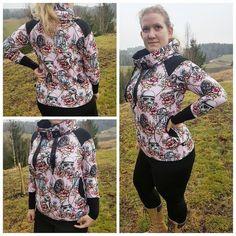 Mønsterark Raglan hoodie with a twist size 34-54