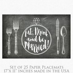 Family Placemats Paper Placemats Black /& White Stripes Personalized Paper Placemats Table Setting